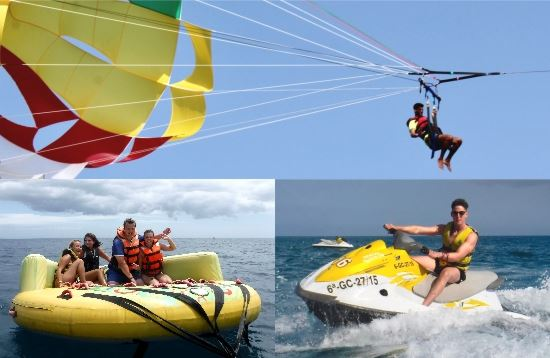 Water Sports Package Parasailing Morro Jable Fuerteventura
