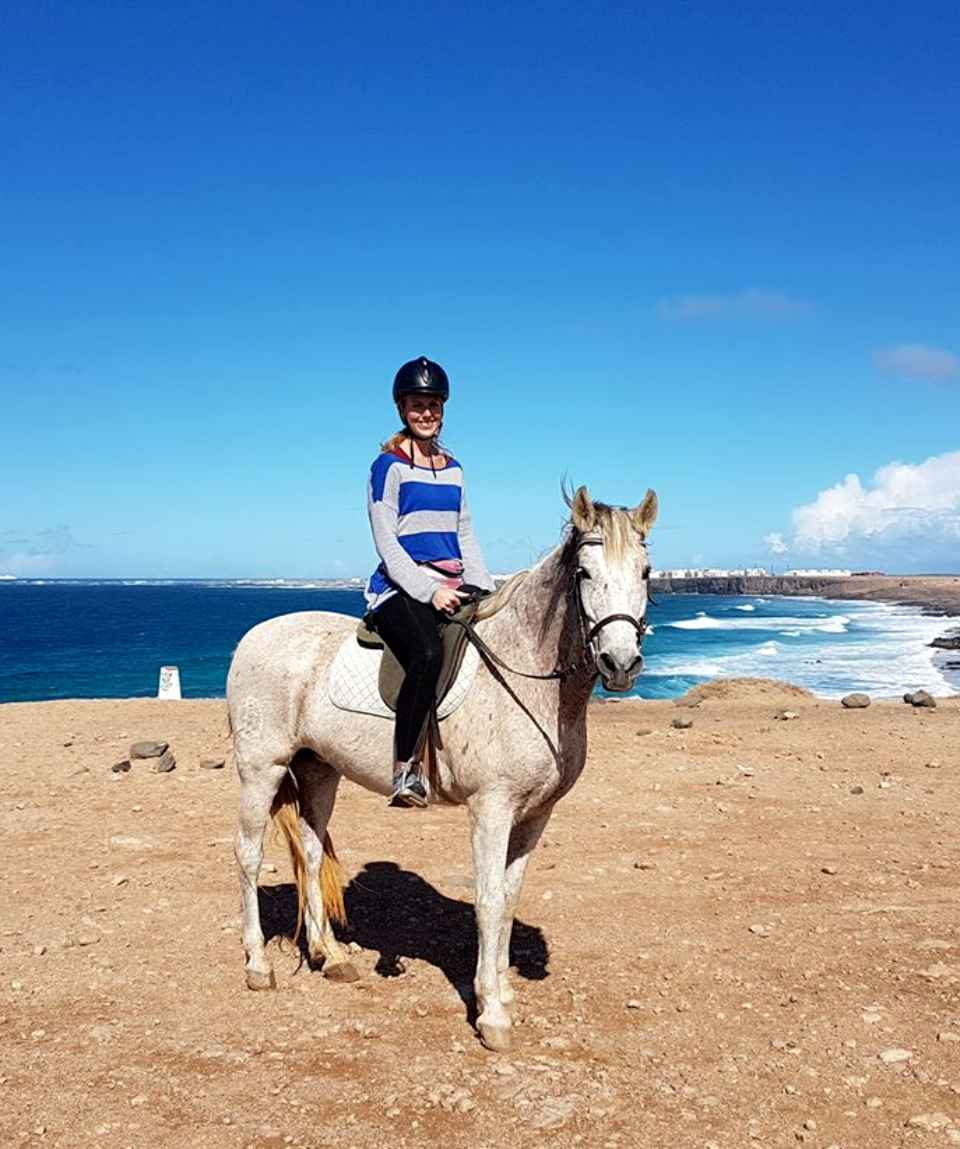Horseback Riding by the Sea in El Cotillo